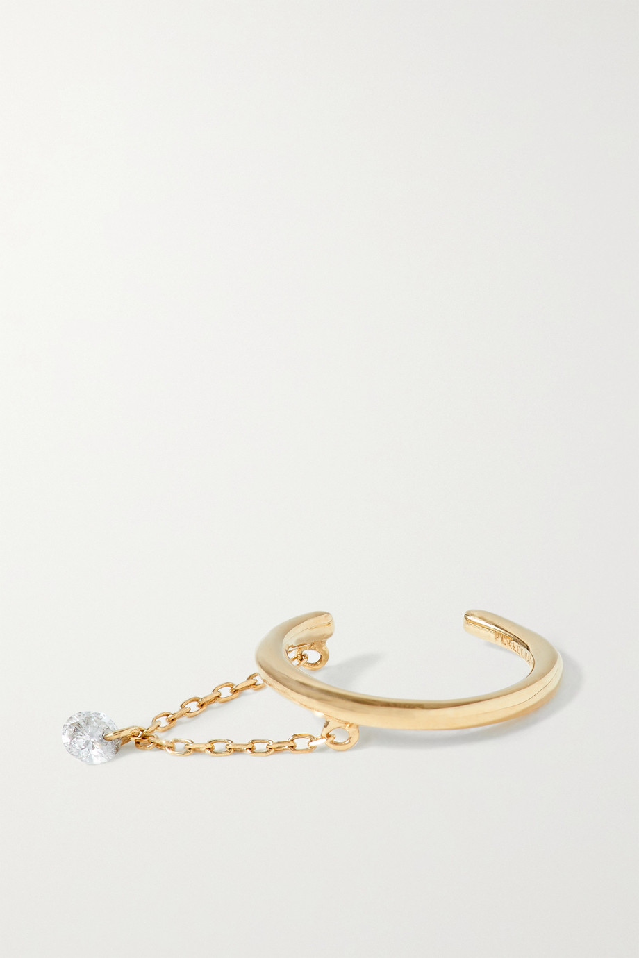 Persée Einzelnes Ear Cuff aus Gold mit Diamant