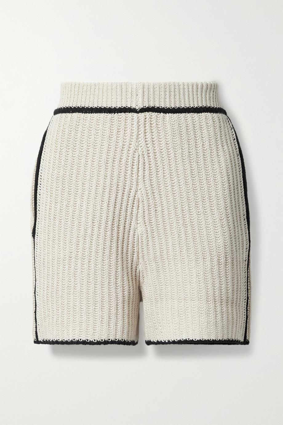 By Malene Birger Catua ribbed-knit shorts