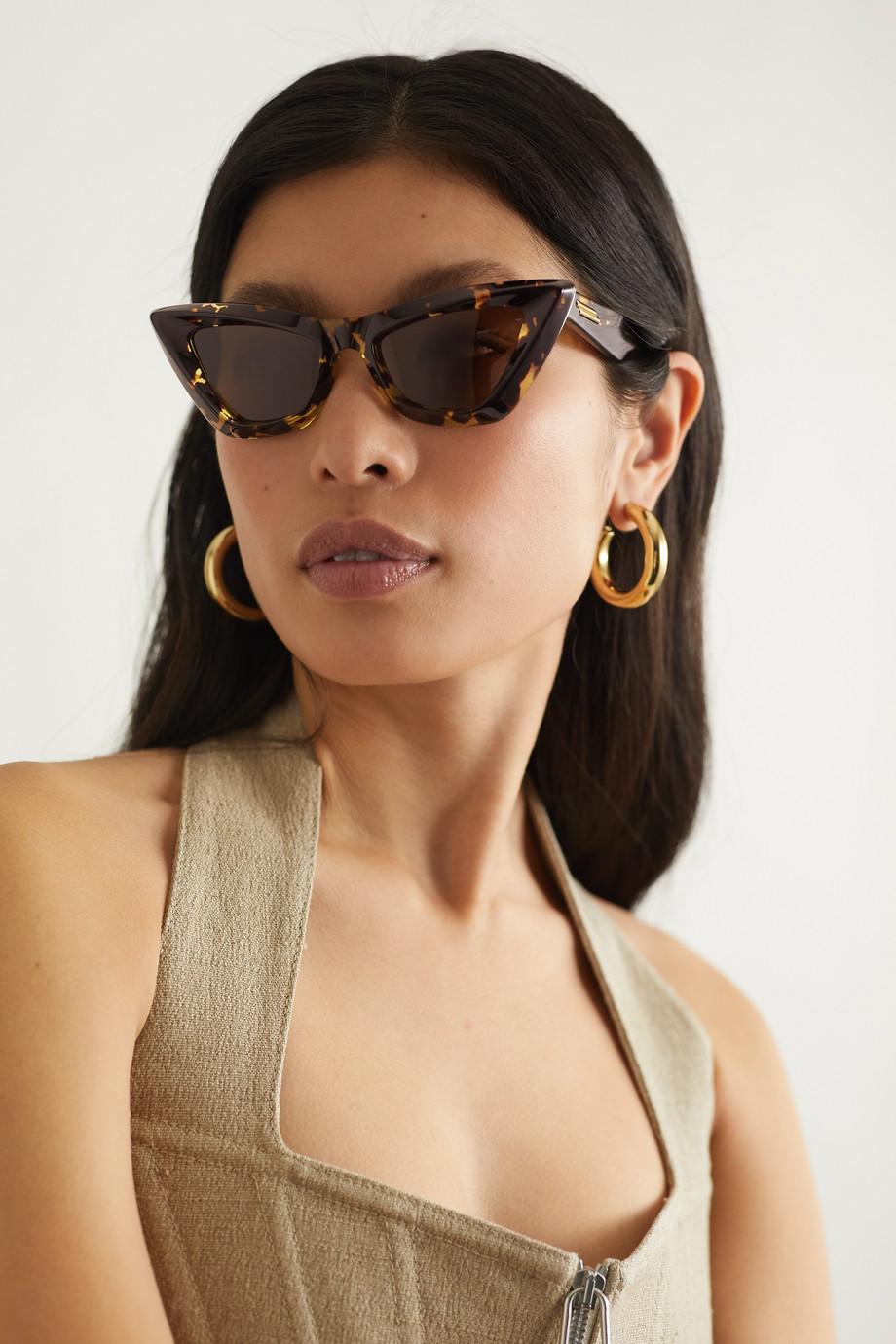Bottega Veneta Cat-eye tortoiseshell acetate sunglasses