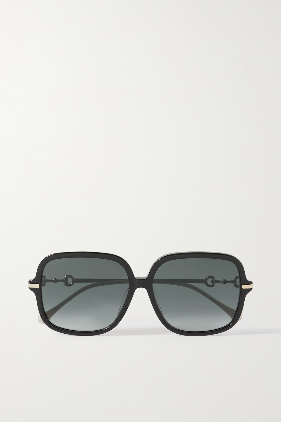 Gucci Square-frame acetate and gold-tone sunglasses