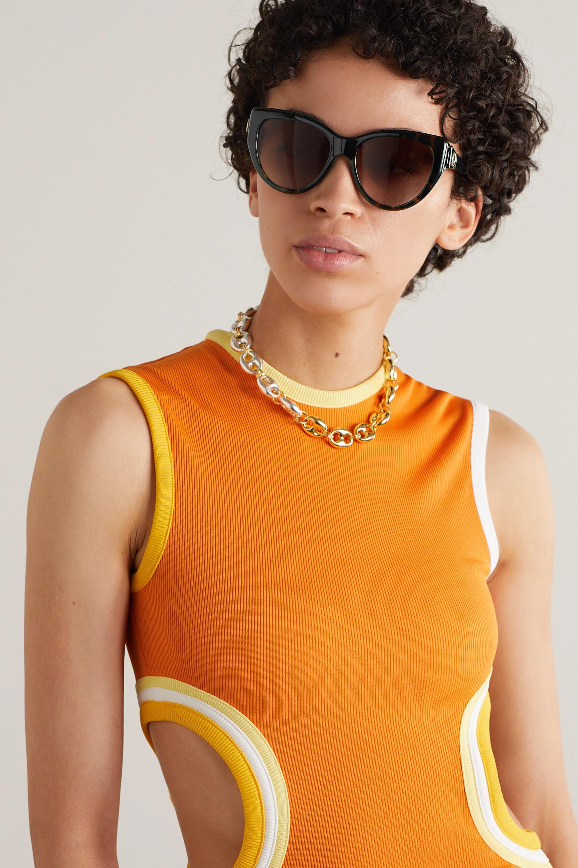 Gucci Lunettes de soleil œil-de-chat en acétate effet écaille