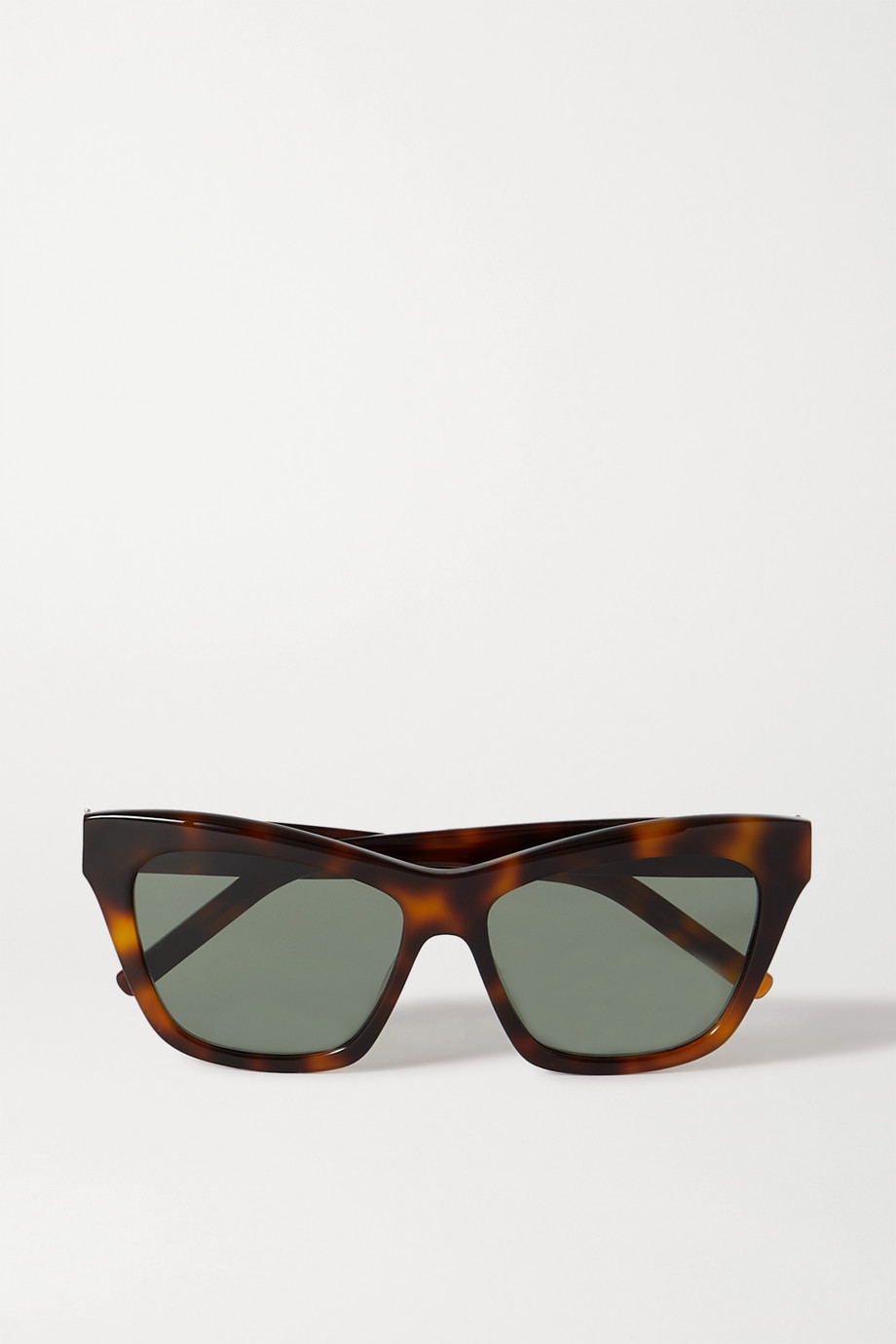 SAINT LAURENT Cat-eye tortoiseshell acetate sunglasses
