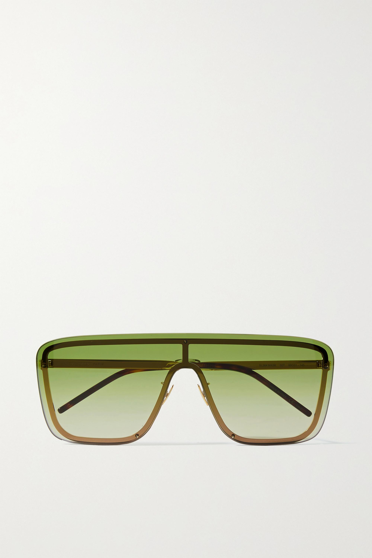 SAINT LAURENT D-frame gold-tone sunglasses