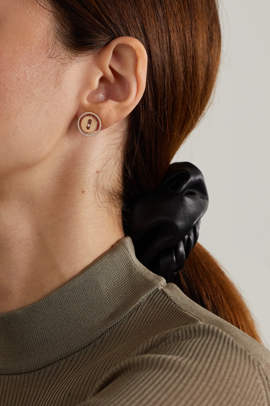 Messika Lucky Move 18-karat rose gold diamond earrings