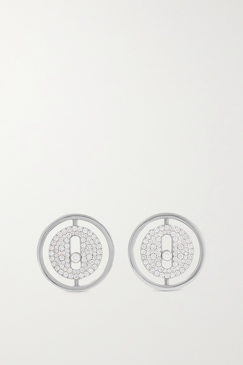 Messika Lucky Move 18-karat white gold diamond earrings