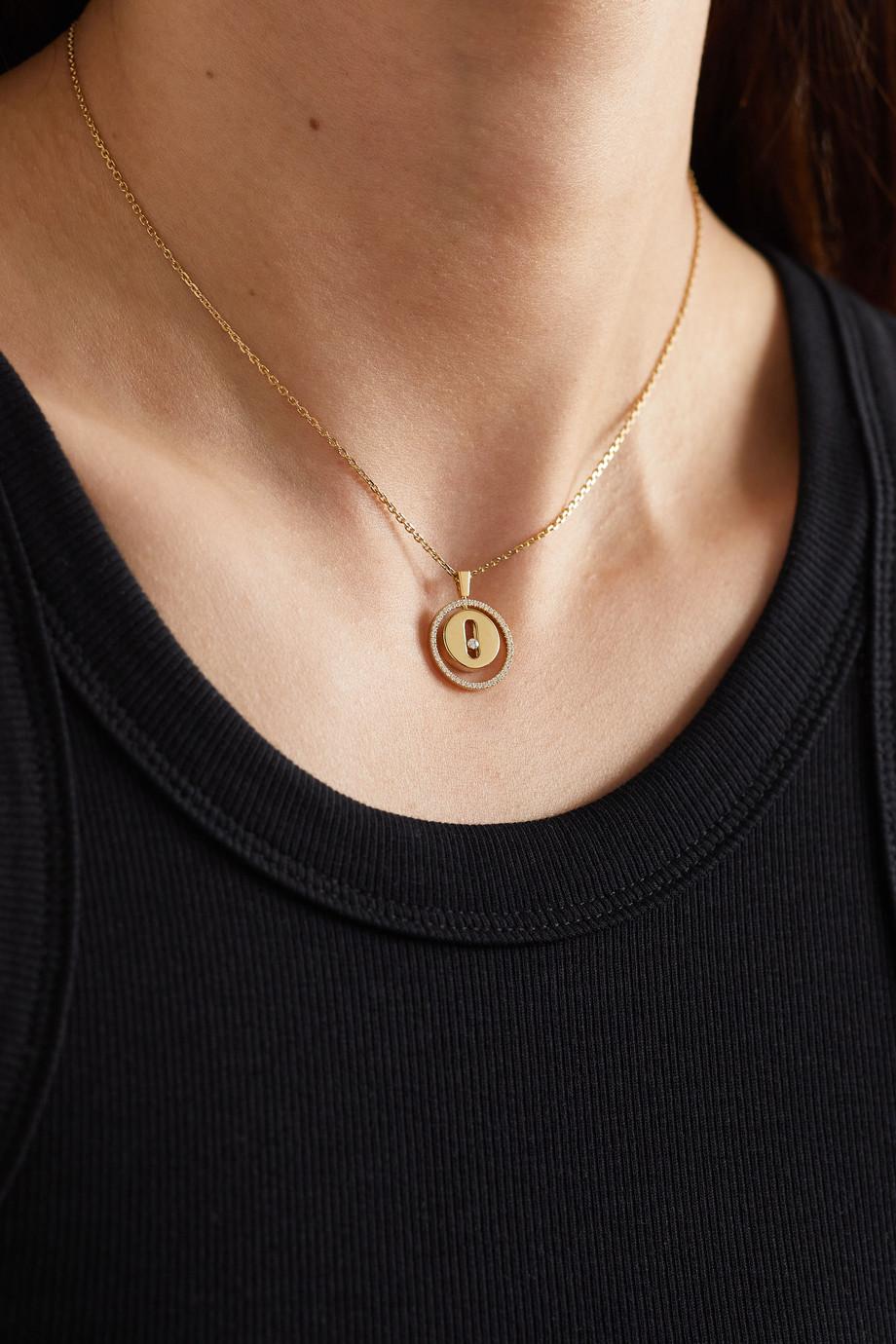 Messika Lucky Move 18-karat gold diamond necklace