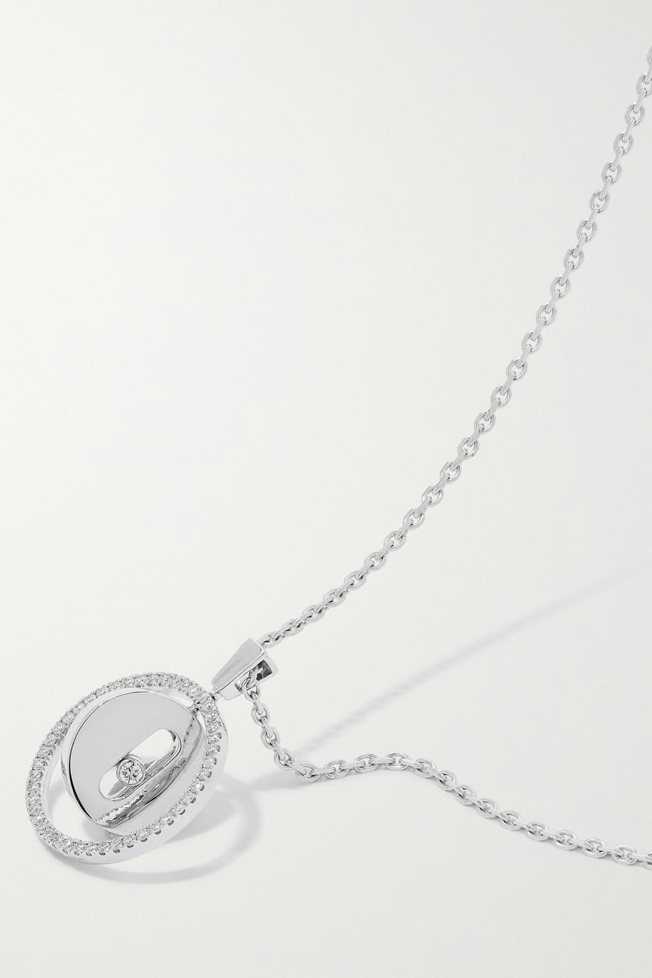 Messika Lucky Move 18-karat white gold diamond necklace