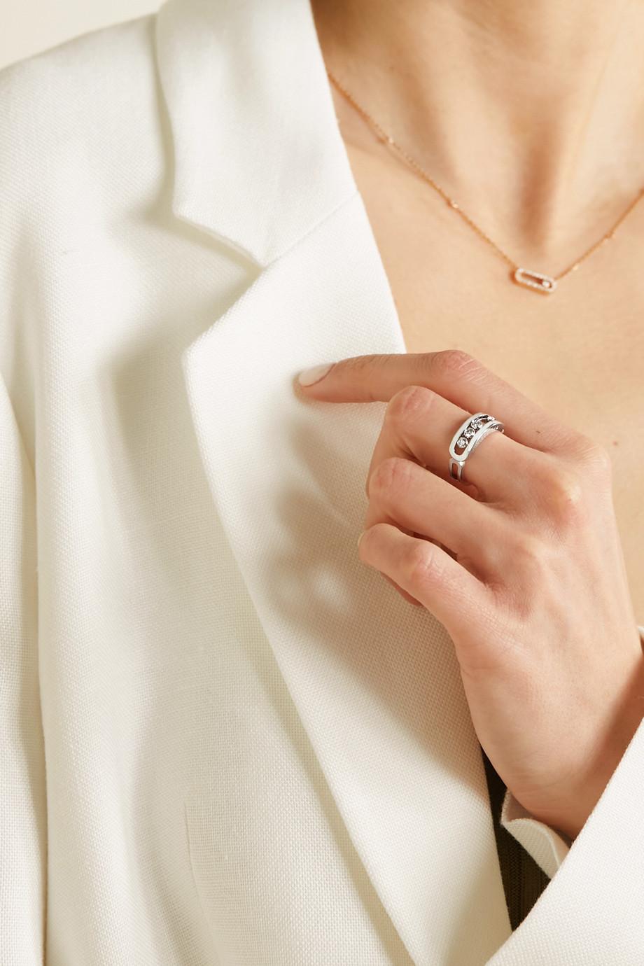 Messika Bague en or blanc 18 carats et diamants Move