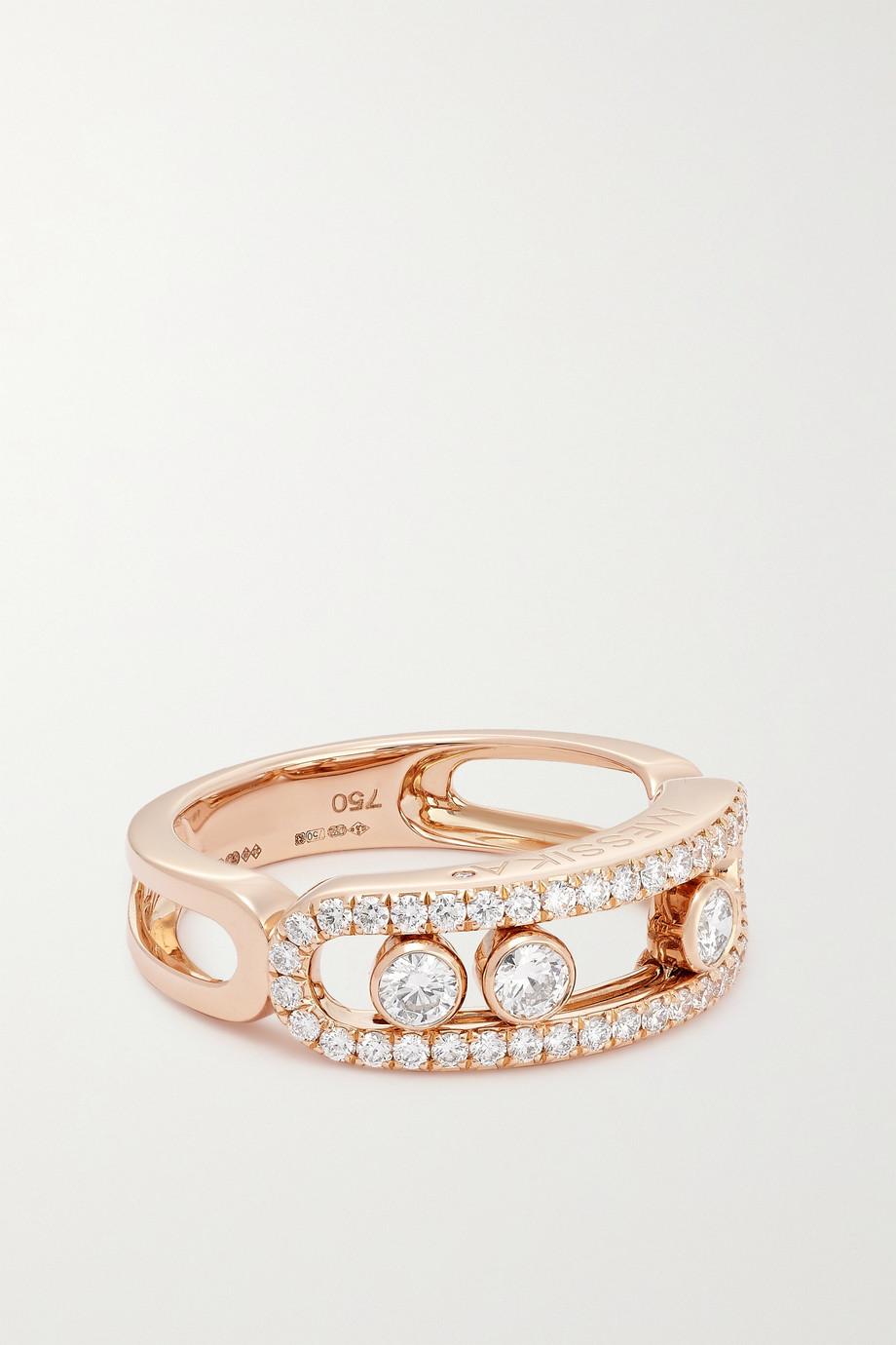Messika Bague en or rose 18 carats et diamants Move