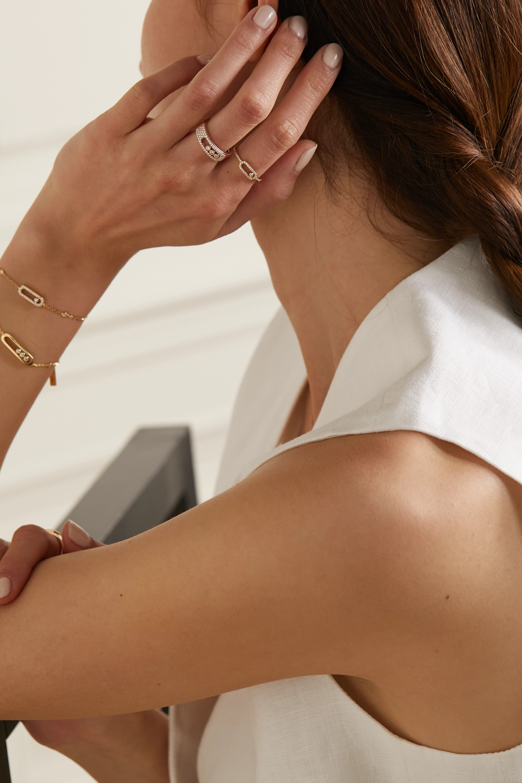 Messika Move Noa 18-karat rose gold diamond ring