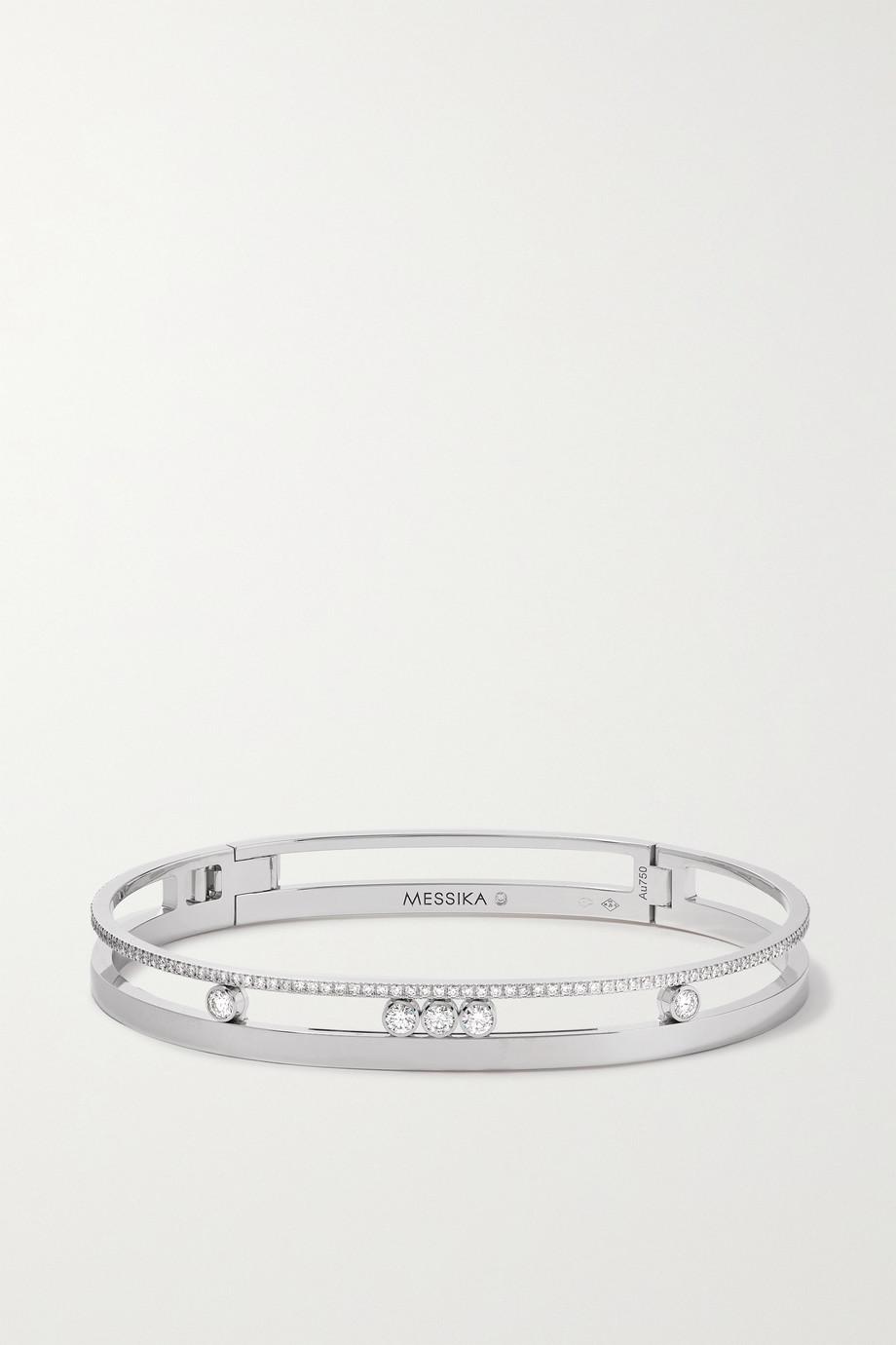 Messika Bracelet en or blanc 18 carats (750/1000) et diamants Move Romane