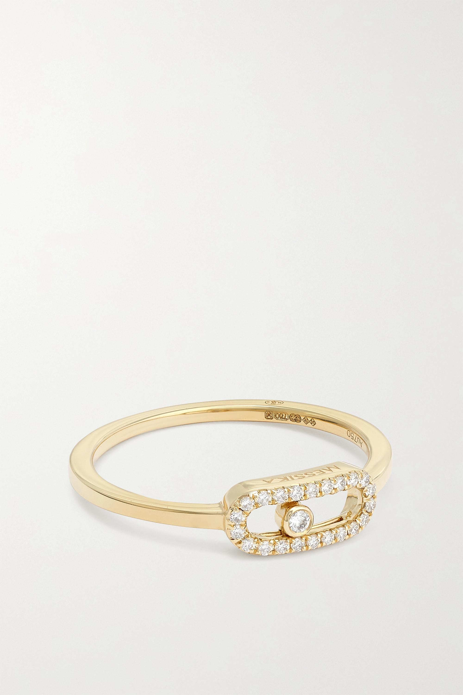 Messika Move Uno 18-karat gold diamond ring