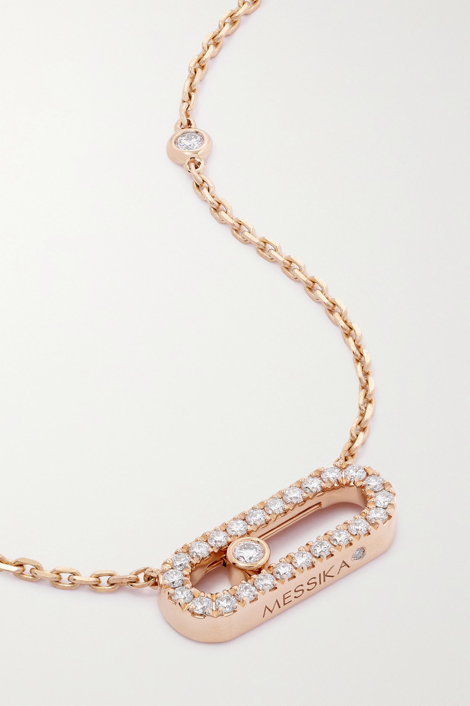 Messika Move Uno Kette aus 18 Karat Roségold mit Diamanten