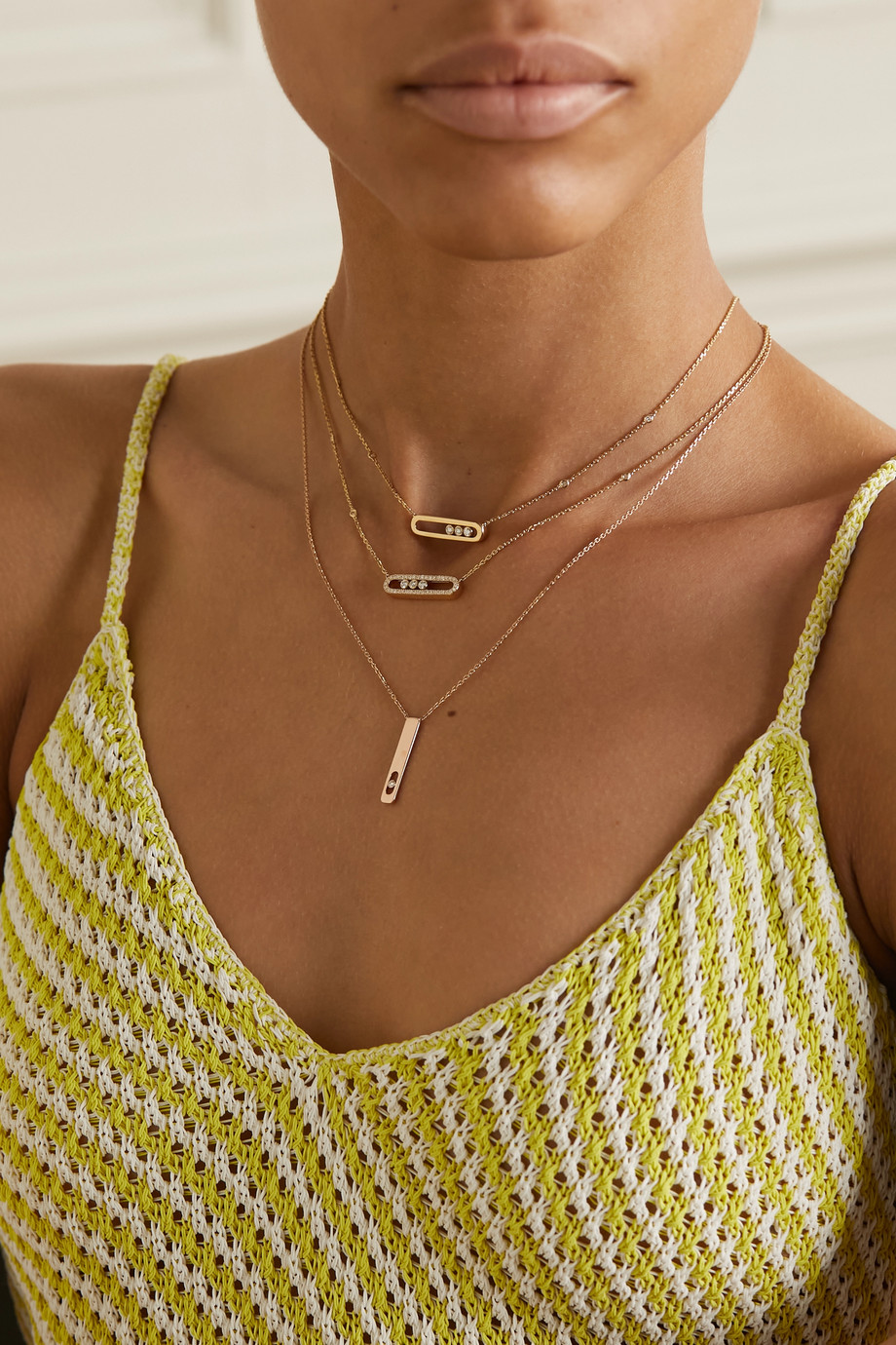 Messika My First Diamond 18-karat rose gold diamond necklace