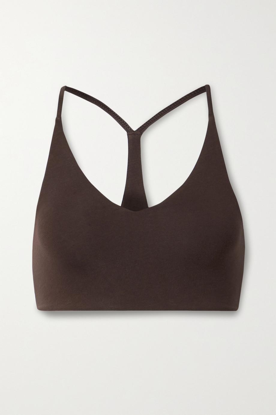 Skin + NET SUSTAIN Ora stretch organic Pima cotton-jersey soft-cup bra