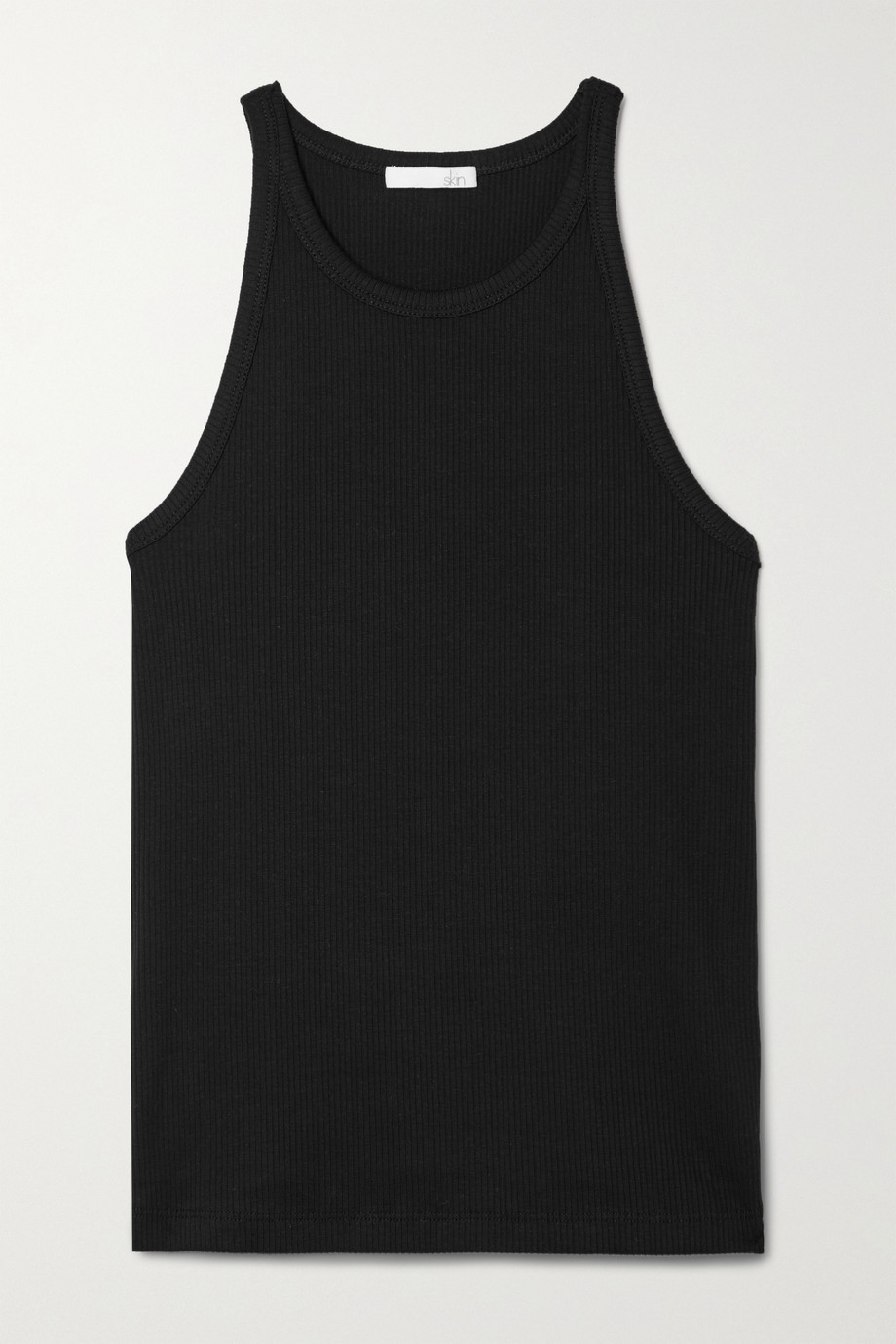 Skin + NET SUSTAIN Ivy Tanktop aus geripptem Bio-Pima-Baumwoll-Jersey mit Stretch-Anteil