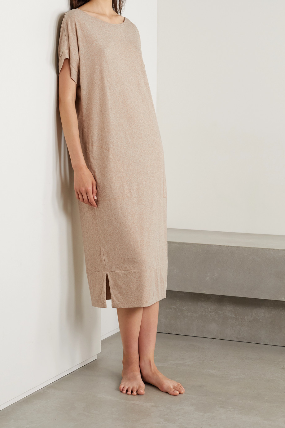 Skin + NET SUSTAIN Cezanne organic Pima cotton-jersey nightdress