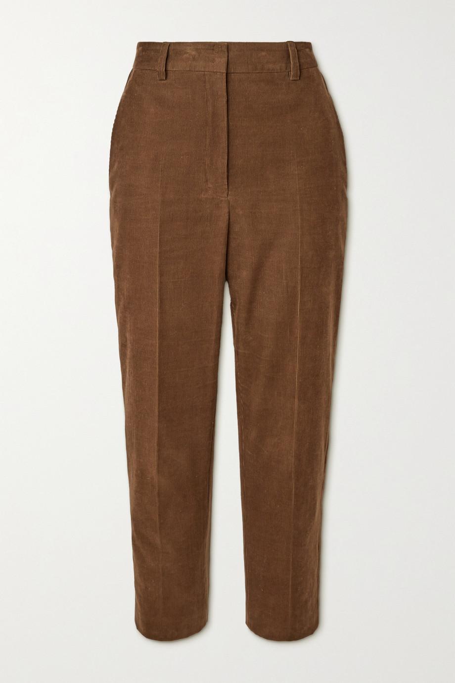 Akris Pantalon fuselé raccourci en velours côtelé de coton
