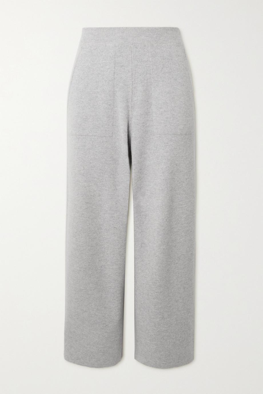 Akris Cropped cashmere track pants