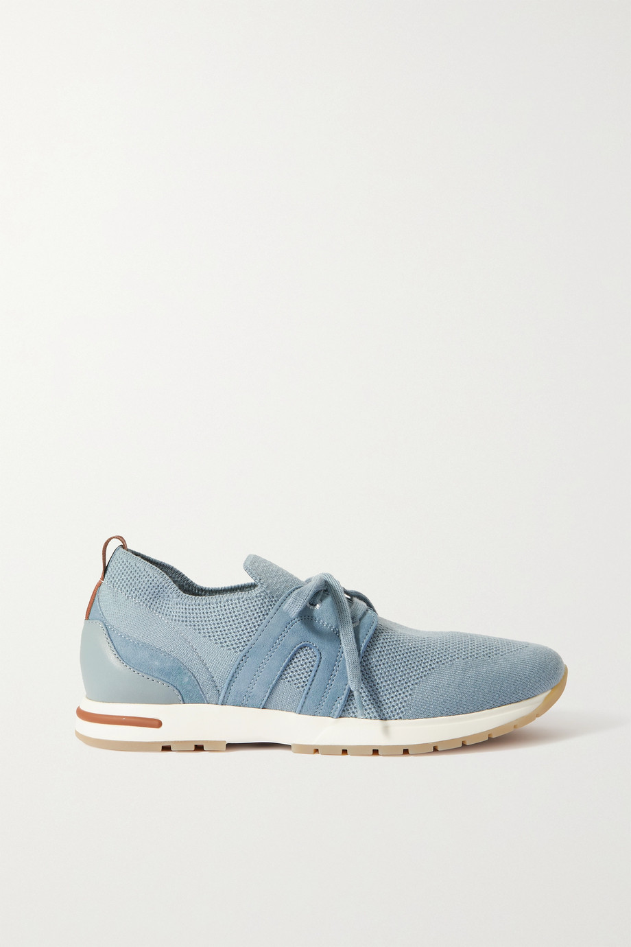 Loro Piana 360 Lp Flexy Walk suede and leather-trimmed wool sneakers