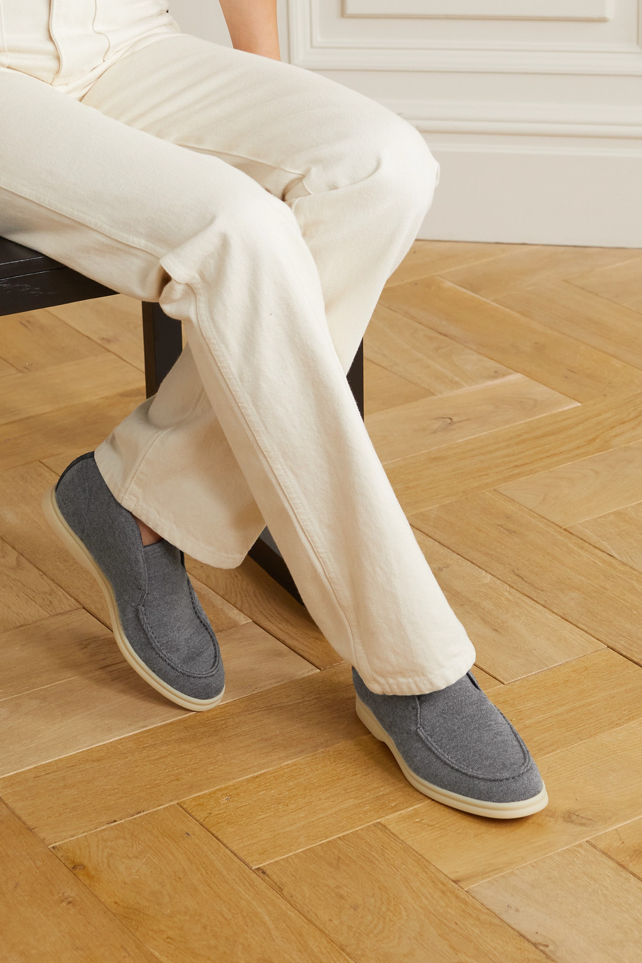 Loro Piana Open Walk suede-trimmed cashmere loafers