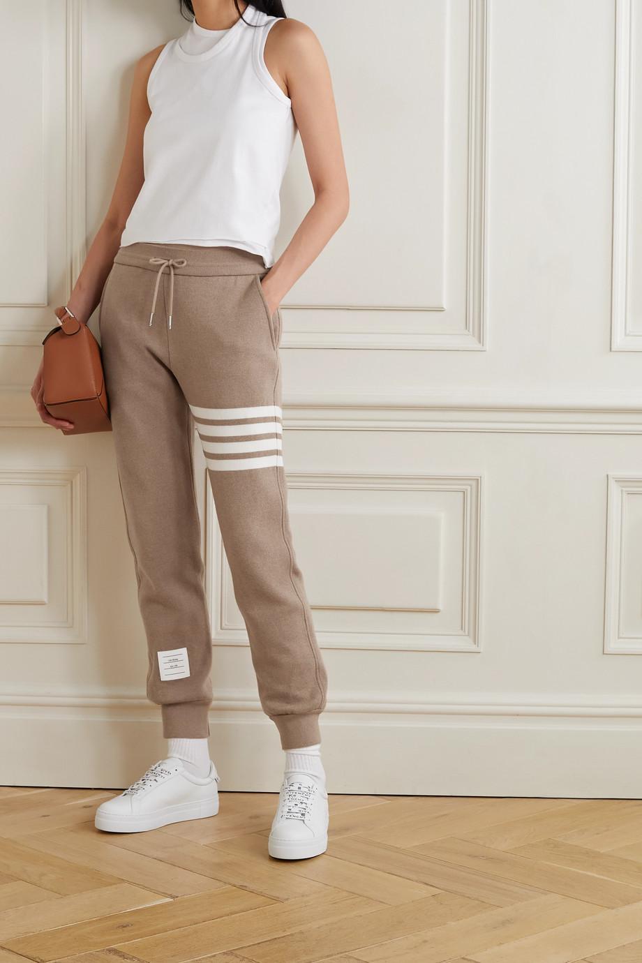 Thom Browne Striped cotton-blend track pants