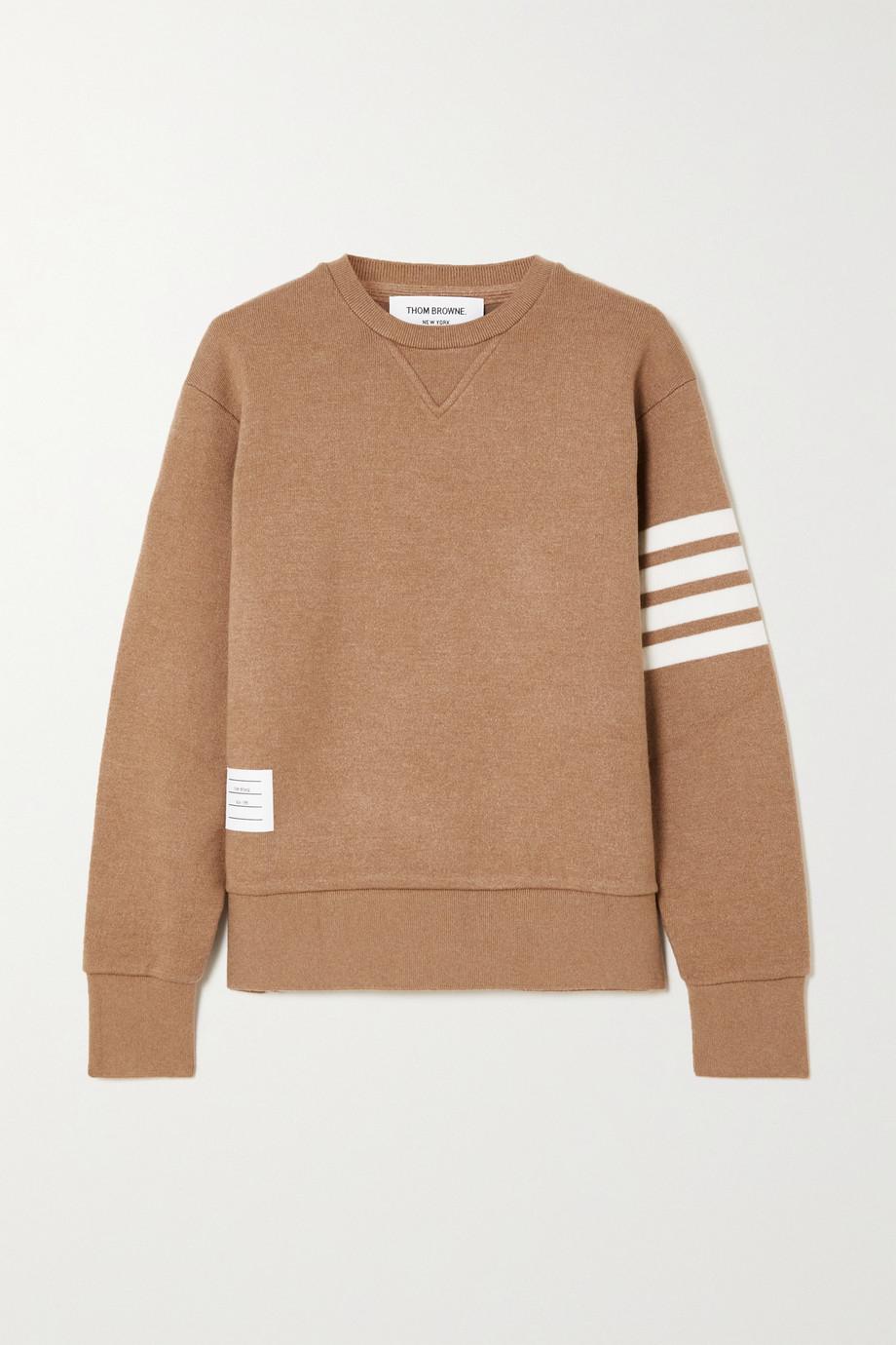 Thom Browne Striped cashmere-blend sweatshirt