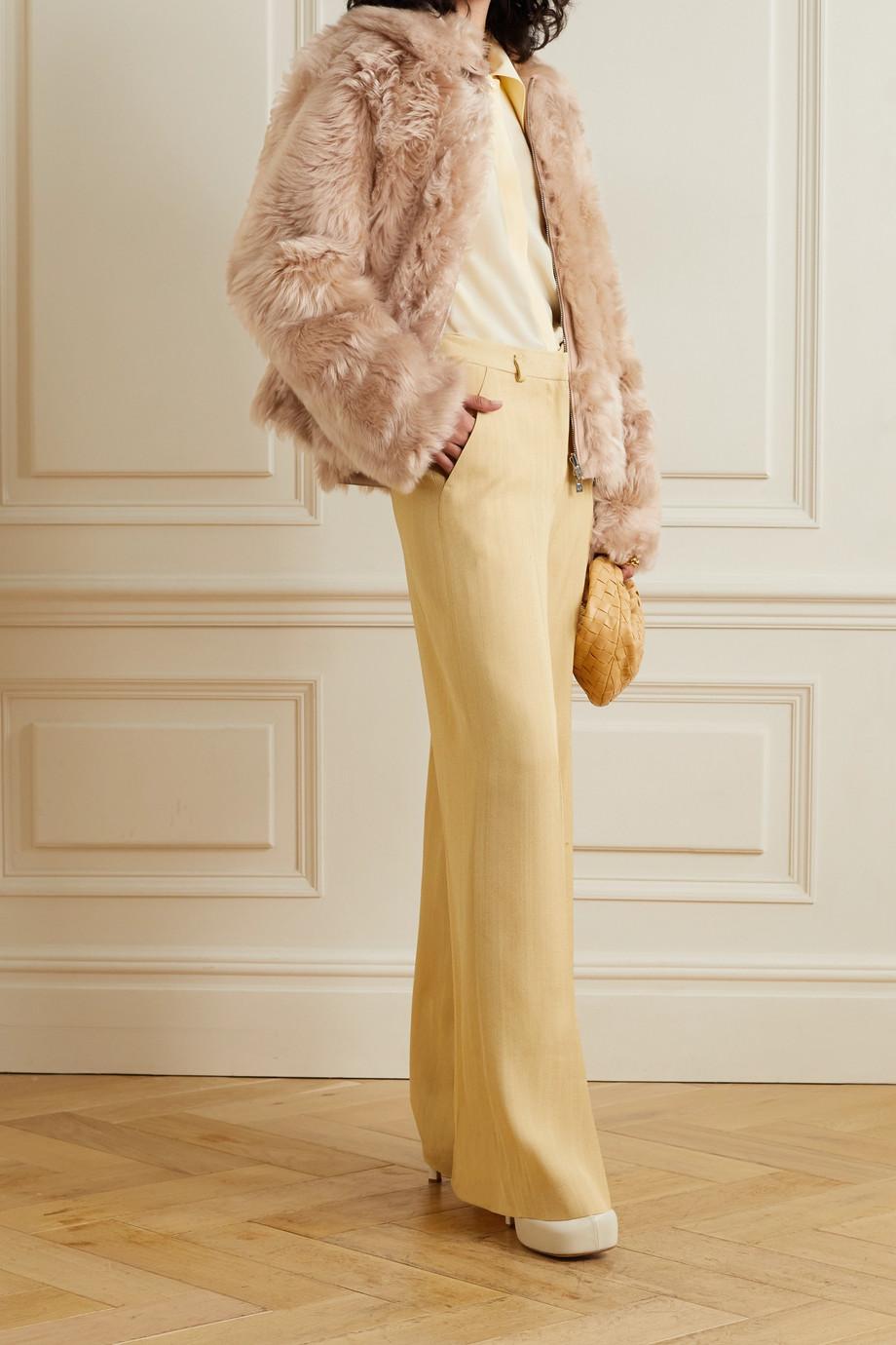 Loro Piana Veste réversible en peau lainée Chaz
