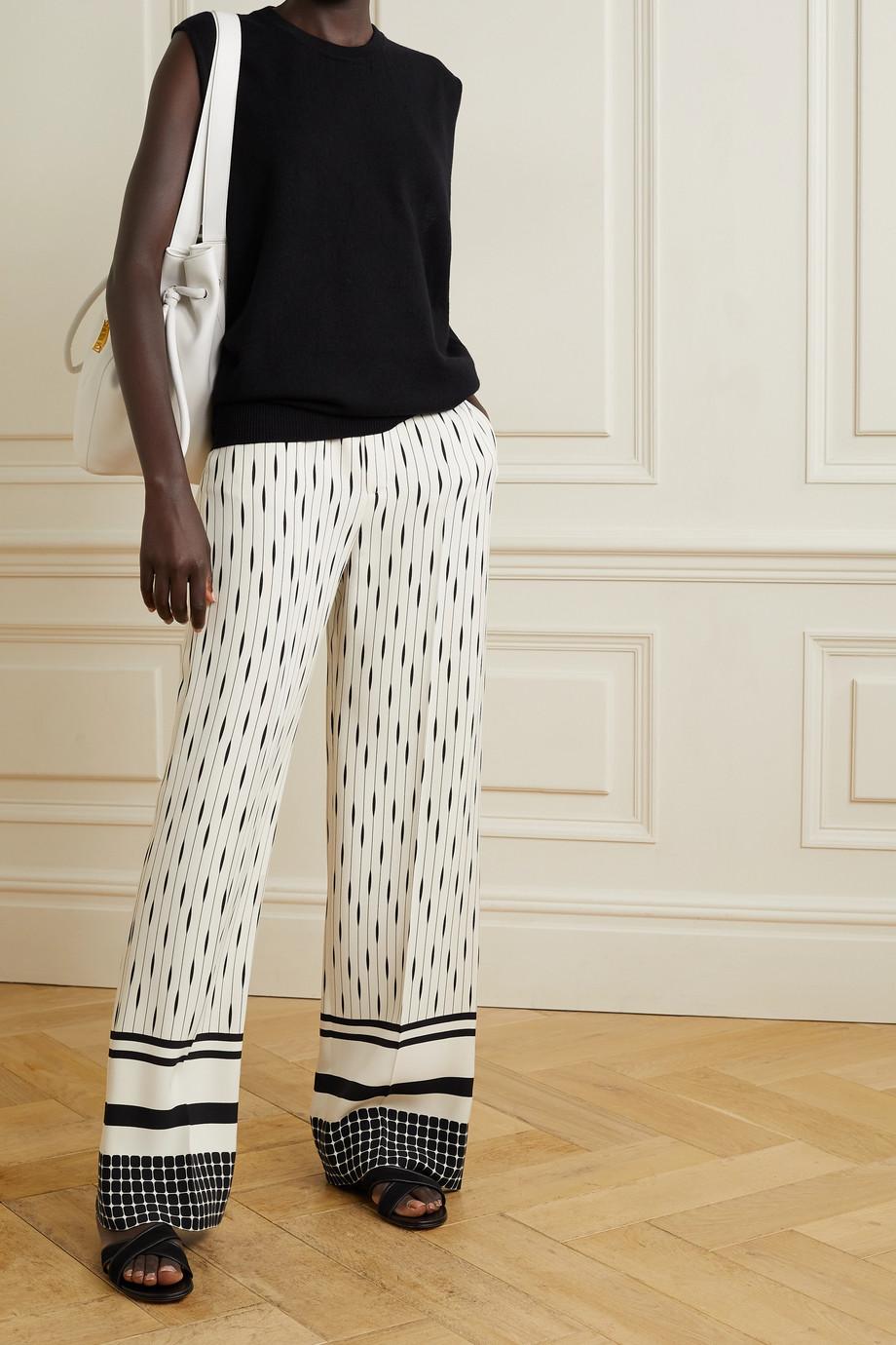 Loro Piana Pantalon large en soie mélangée imprimée Antoine Galleria