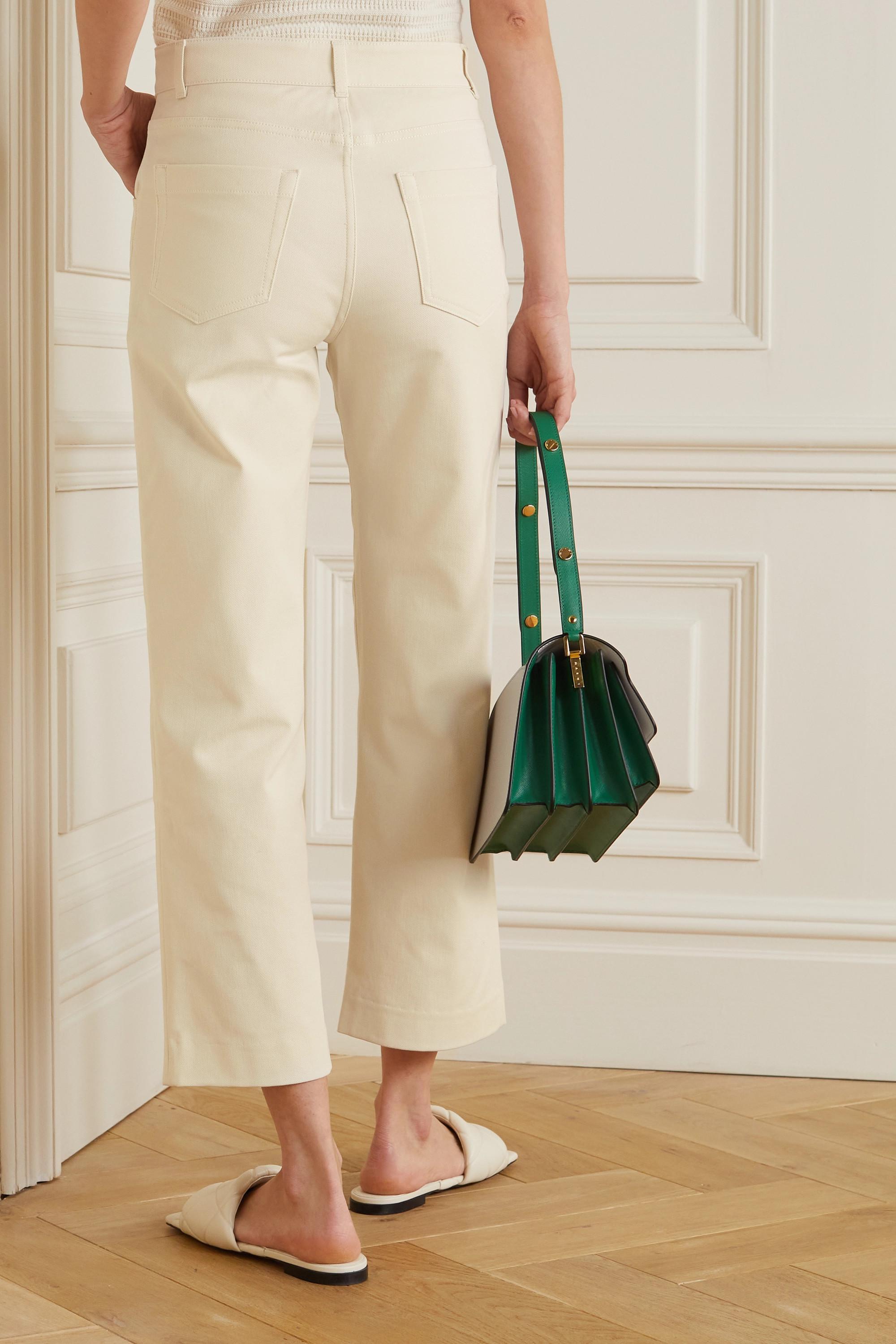 Loro Piana Pantalon large raccourci en gabardine de coton stretch