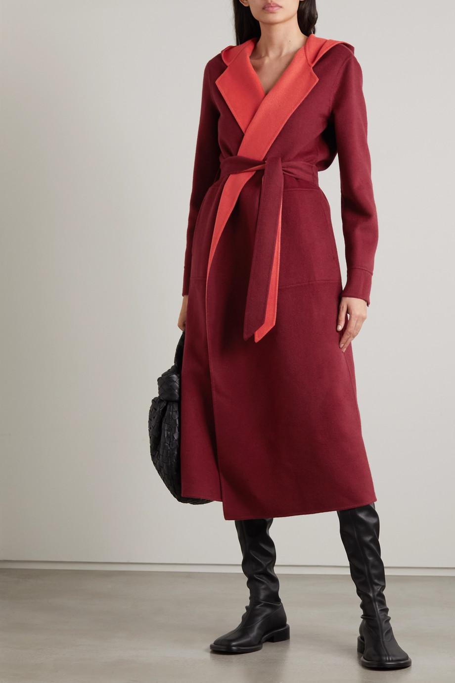 Loro Piana Stefan reversible belted cashmere coat