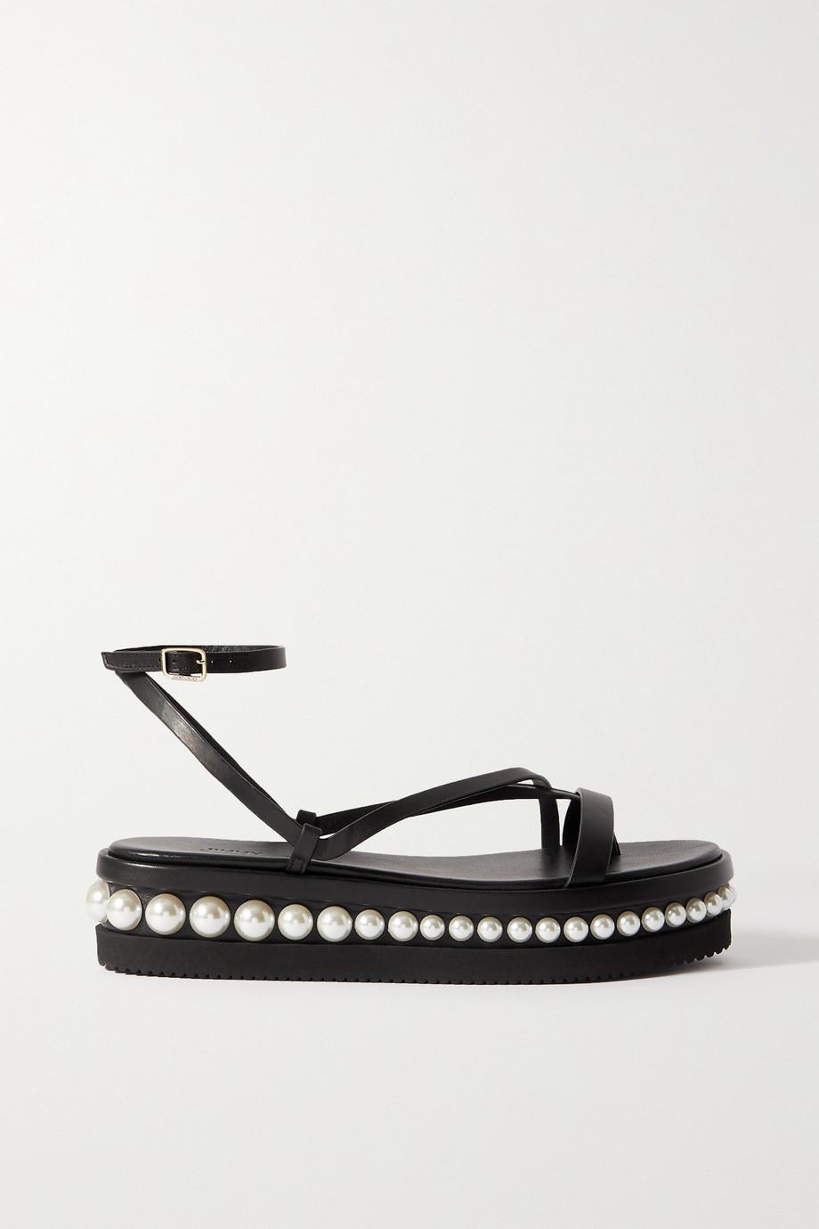 Jimmy Choo Pine 55 embellished leather platform sandals