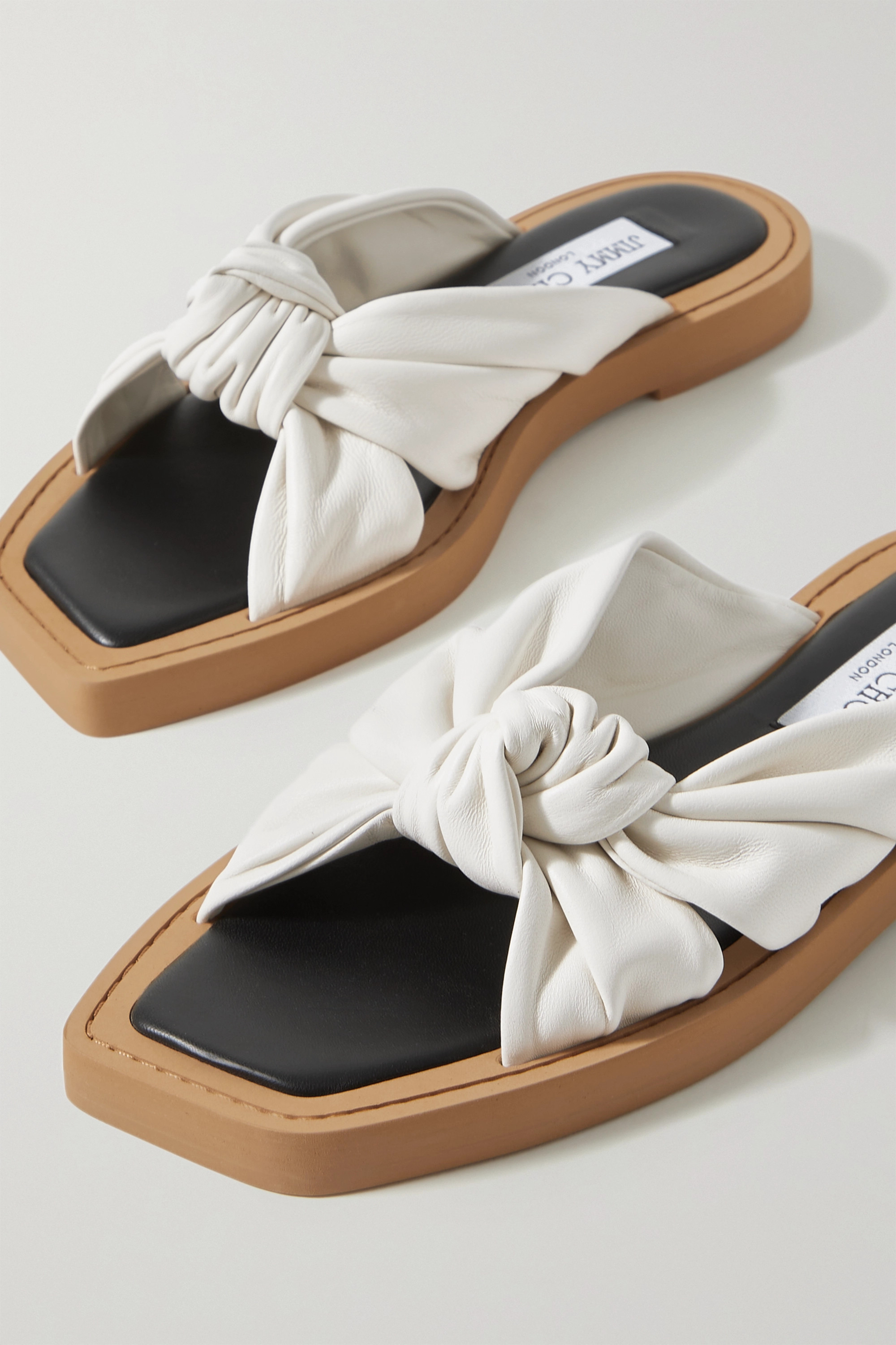 Jimmy Choo Tropica knotted leather sandals
