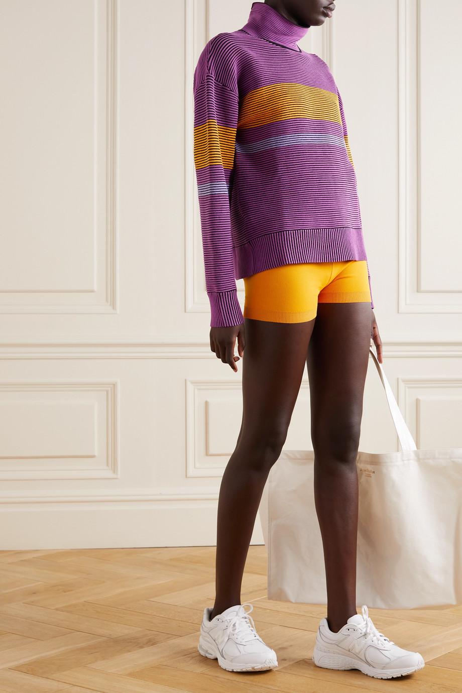 Nagnata + NET SUSTAIN Sama Retro striped ribbed organic cotton sweatshirt