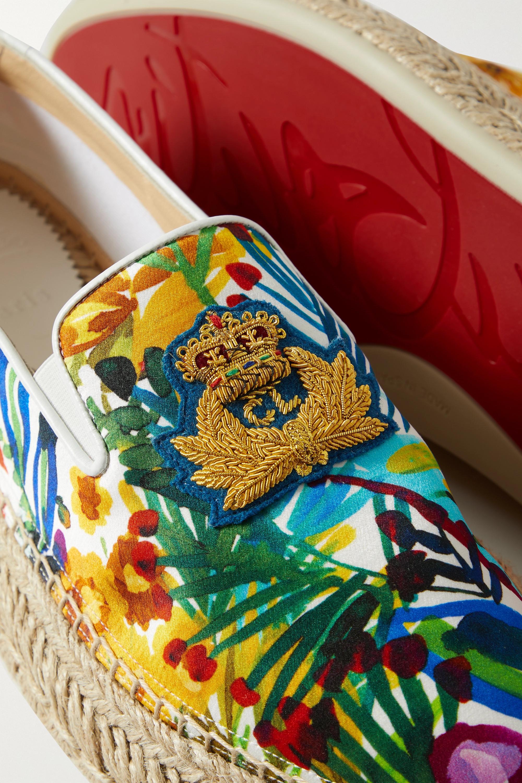 Christian Louboutin Espananou logo-appliquéd floral-print canvas espadrilles