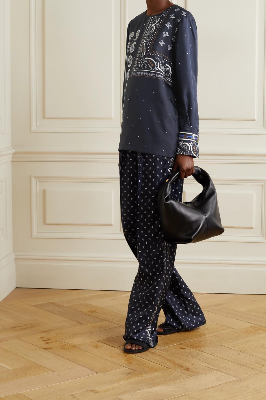 Max Mara Tuono Bluse aus Seiden-Twill mit Print