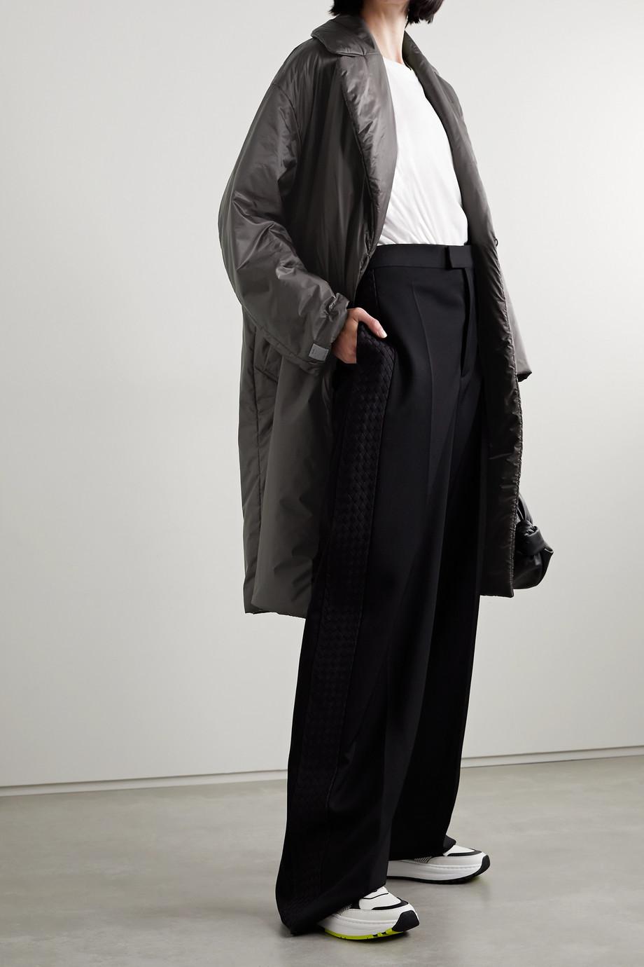 Max Mara Manteau en tissu technique rembourré à ceinture Greenco Cube