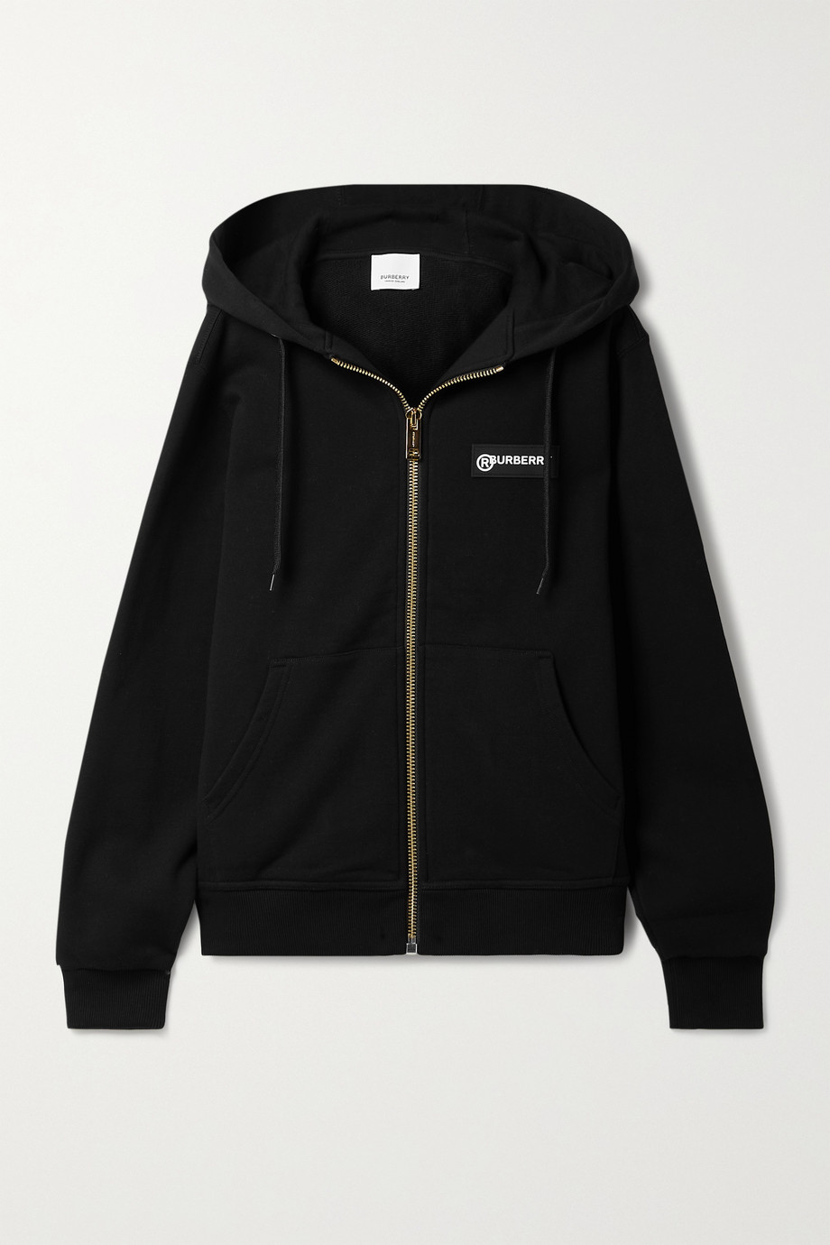 Burberry Paneled checked cotton-blend twill and cotton-jersey hoodie