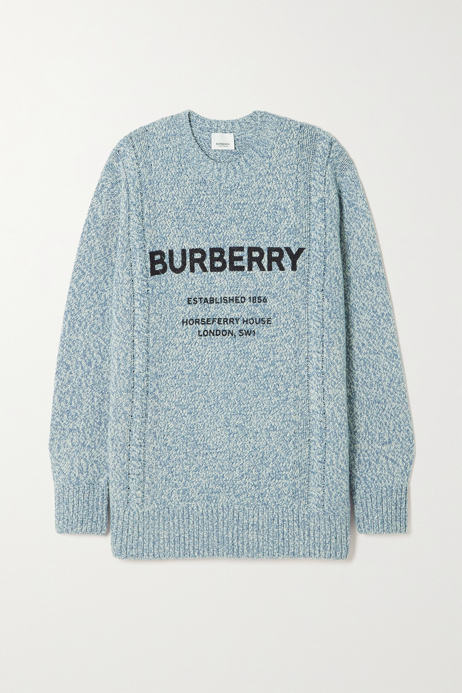 Burberry Printed wool and cotton-blend sweater