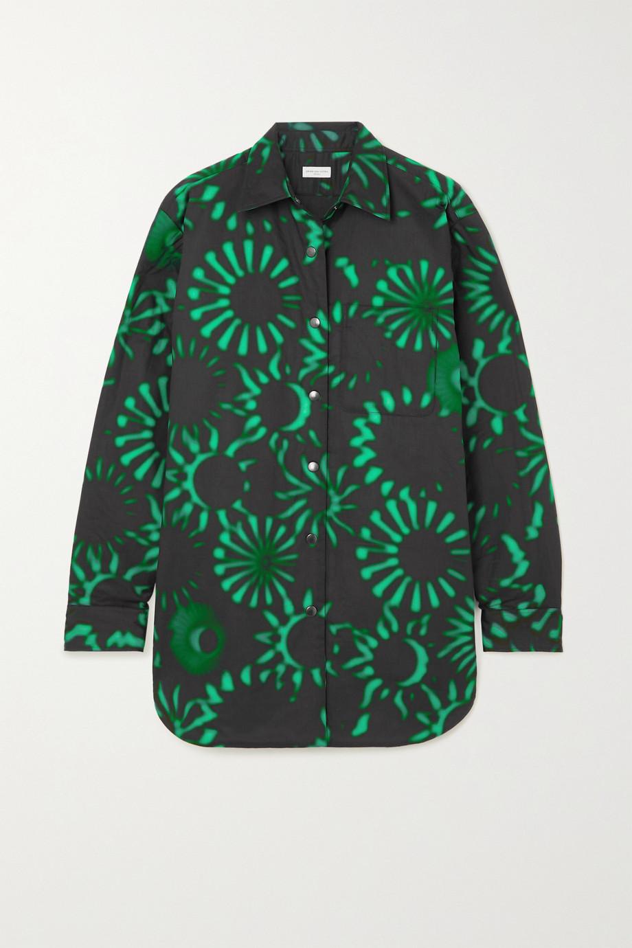 Dries Van Noten Carnella oversized printed cotton jacket