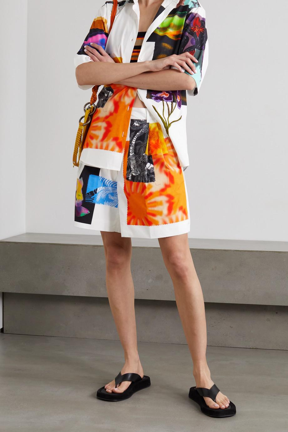 Dries Van Noten Patrice printed cotton-poplin shorts