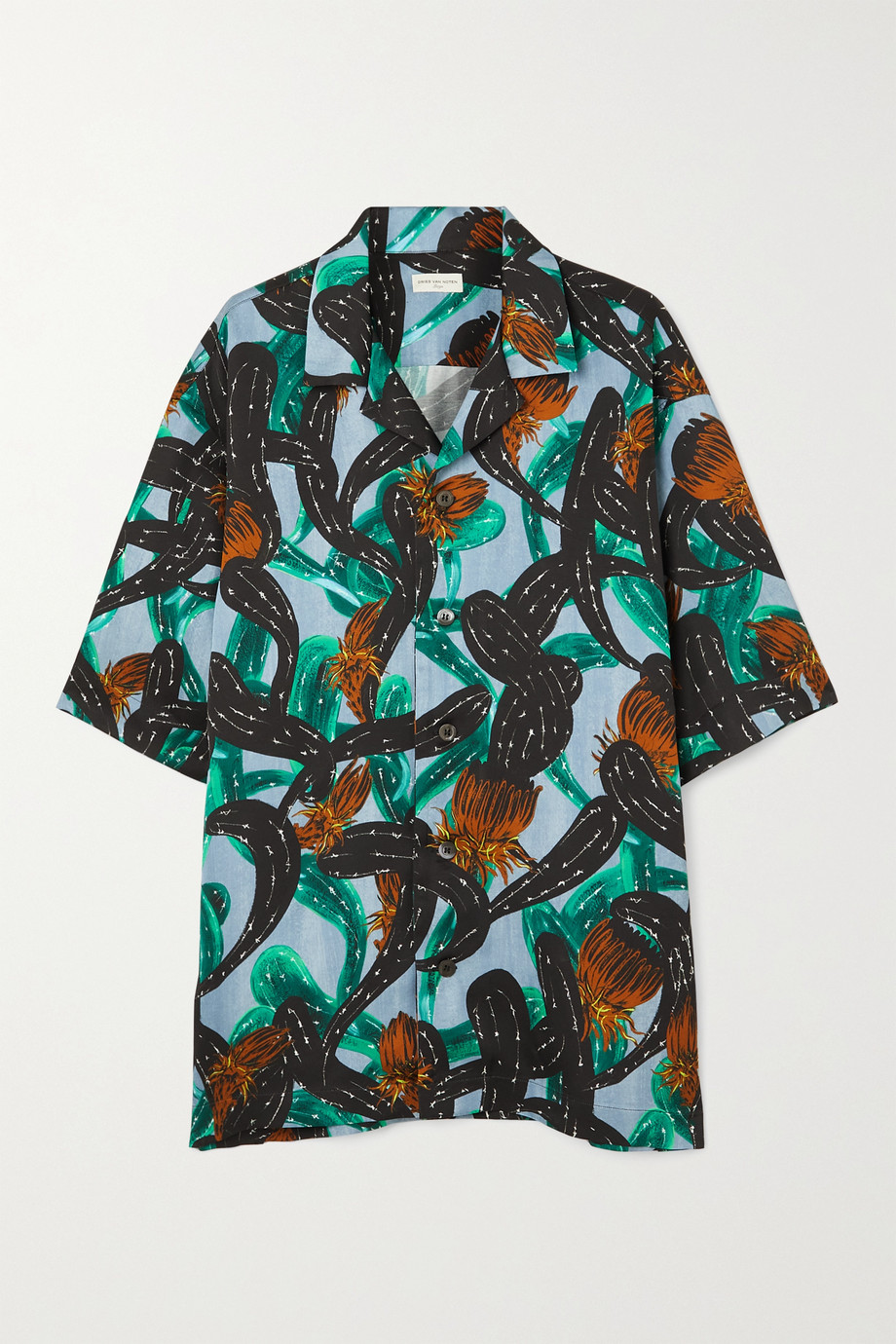 Dries Van Noten Cassie oversized printed twill shirt