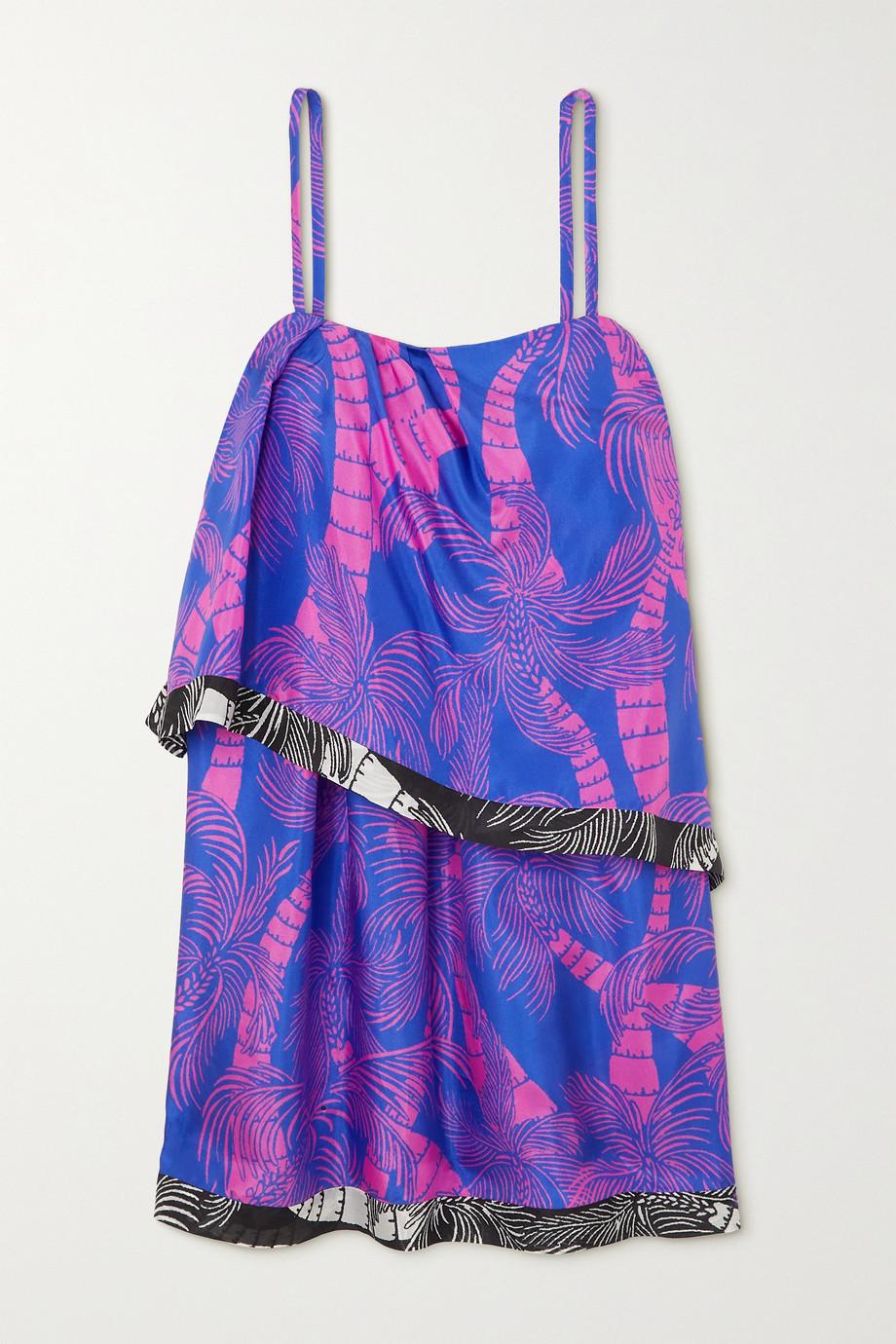 Dries Van Noten Dolari draped printed silk mini dress