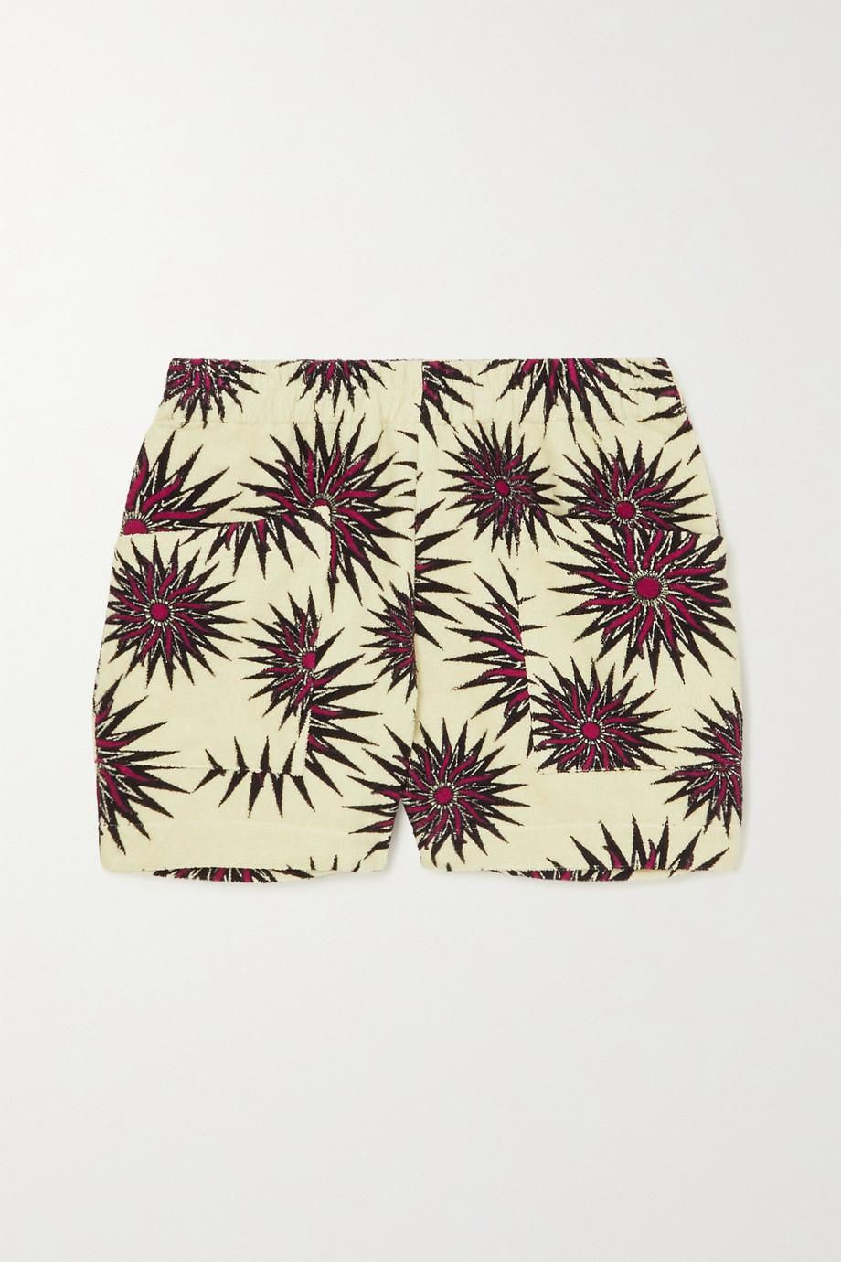 Dries Van Noten Pomar printed cotton-terry shorts