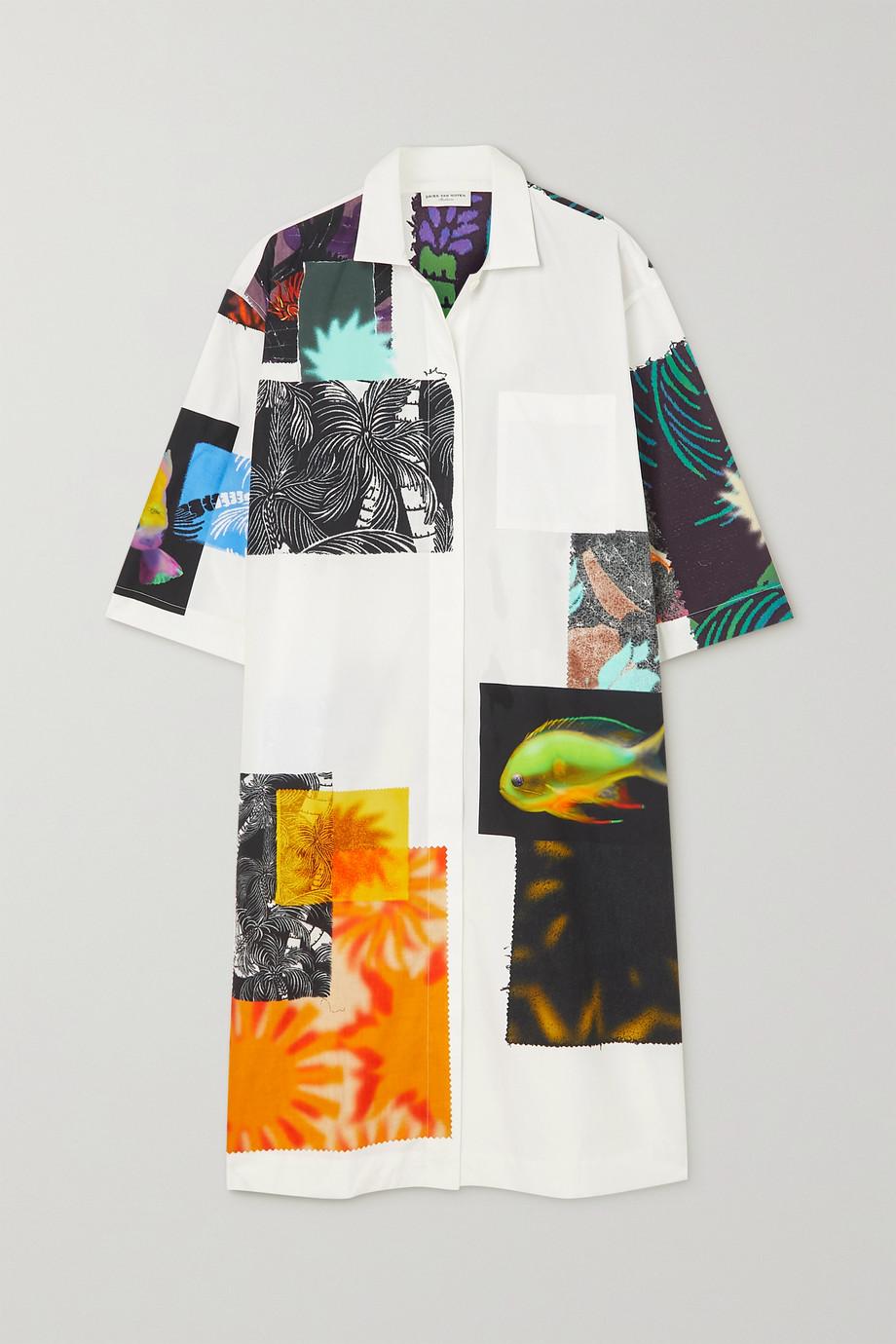 Dries Van Noten Dorali oversized printed cotton-poplin shirt dress
