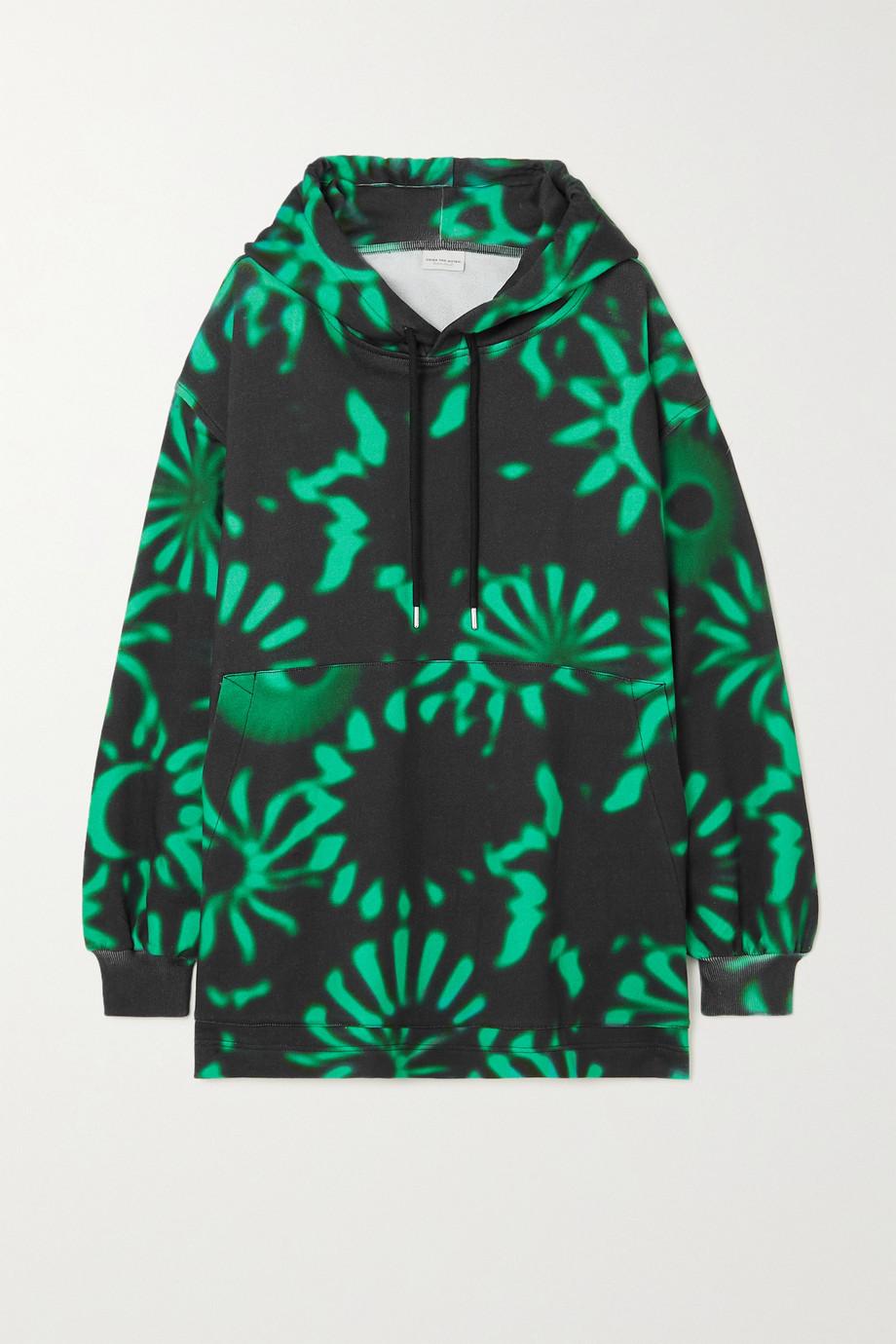 Dries Van Noten Oversized printed cotton-jersey hoodie