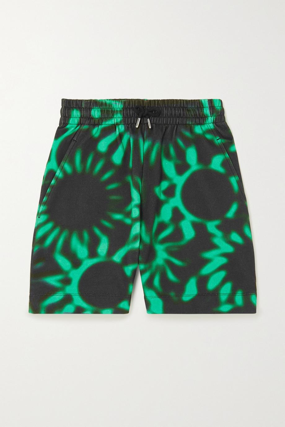 Dries Van Noten Shorts aus bedrucktem Baumwoll-Jersey