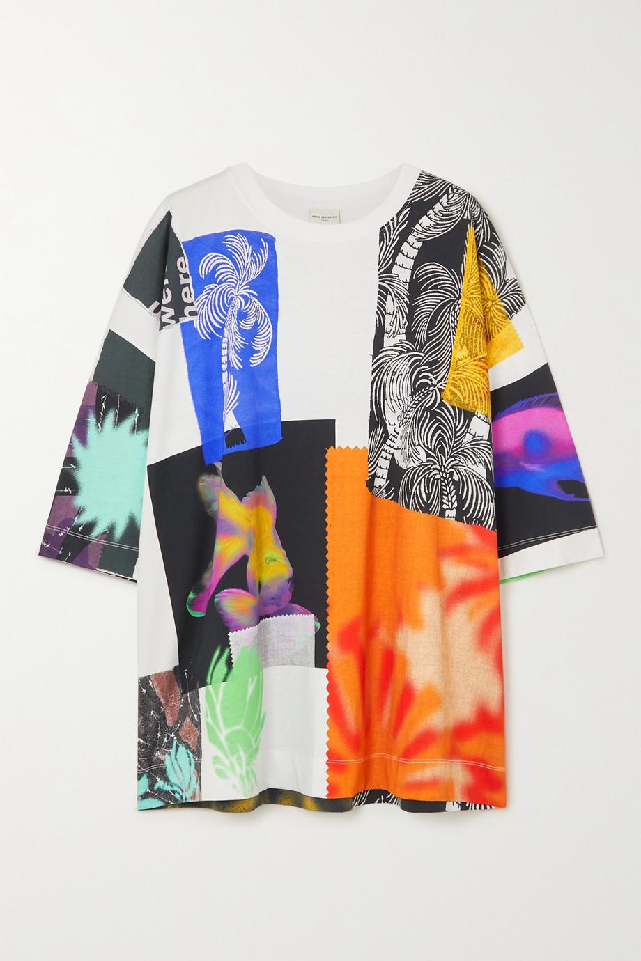 Dries Van Noten T-shirt oversize en jersey de coton imprimé