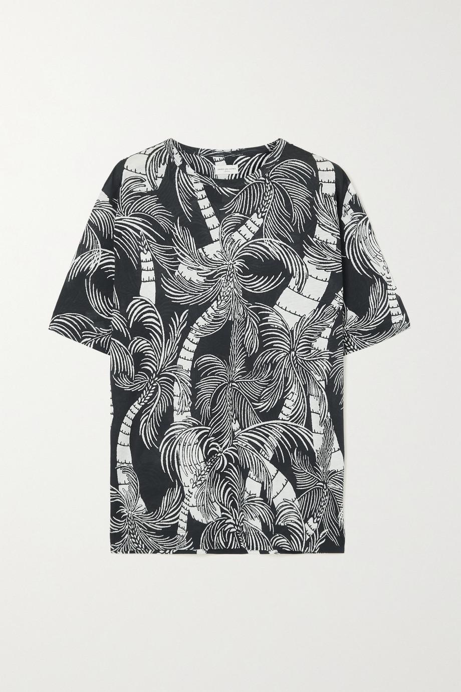 Dries Van Noten T-shirt en jersey de coton imprimé