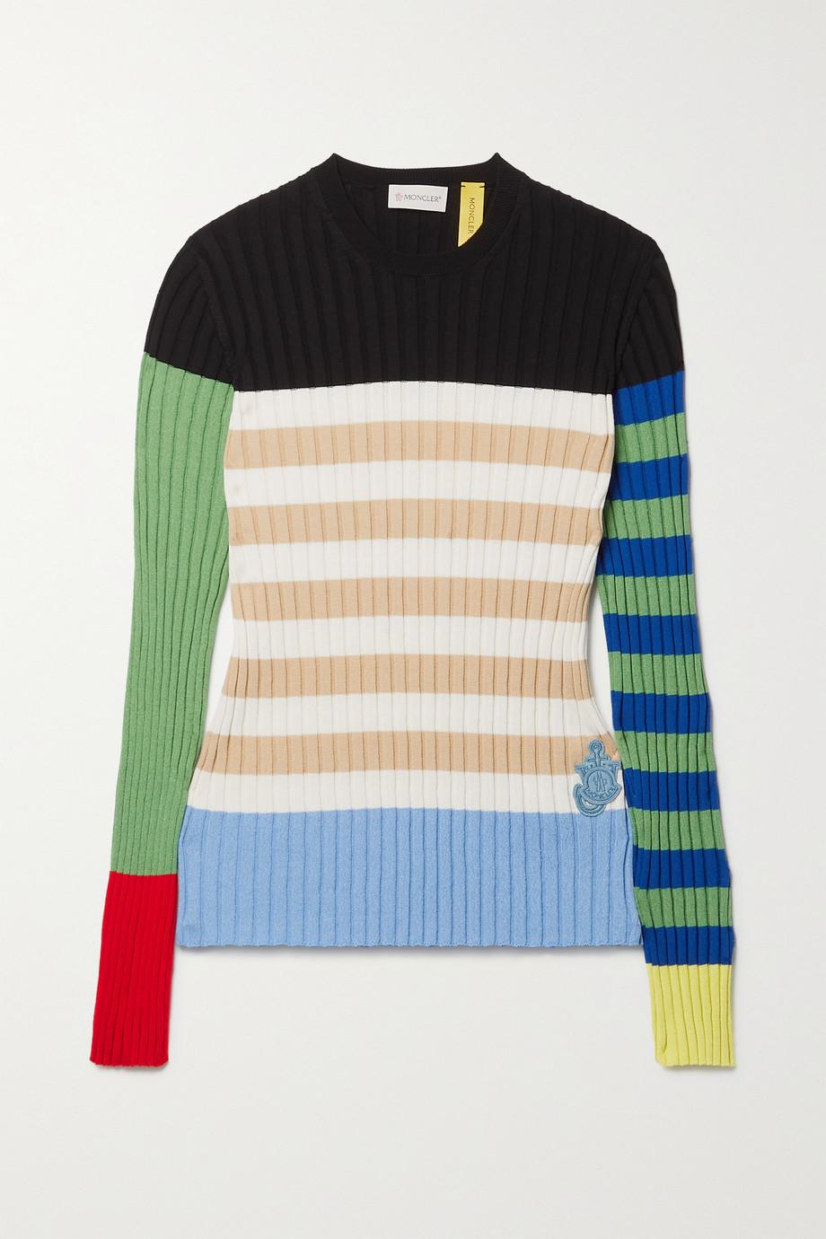 Moncler Genius Pull en coton mélangé côtelé color-block x JW Anderson 1